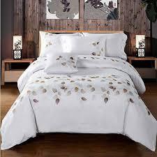 Embroidered Duvet Cover Sets Bedroom Online Get Cheap White Embroidered Duvet Cover Aliexpress