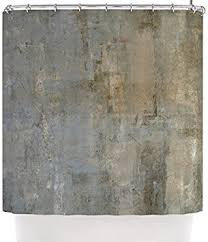 Kess Shower Curtains Kess Inhouse Carollynn Tice Overlooked Brown Gray