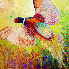Pheasant Home Decor by Flushed Pheasant Painting By Marion Rose
