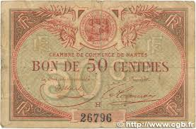 chambre de commerce nantes 50 centimes regionalism and miscellaneous nantes 1918 jp