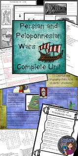 persian and peloponnesian war powerpoint guided notes editable