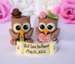 owl wedding cake topper owl wedding cake topper custom and groom bird cake