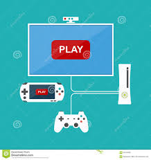 flat design computer games concept game development various