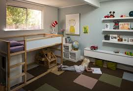 Carpet Squares For Kids Rooms by Malm Ikea Bed For A Contemporary Kids With A Under Bed Storage And