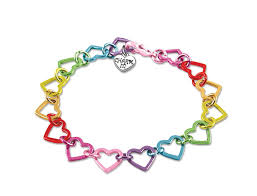 link bracelet with heart images Charm it rainbow heart link bracelet the milk moustache jpg