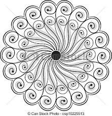 Flower Designs For Drawing Vector Illustration Of Fancy Vector Flower Design Csp10585520