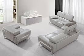 leather livingroom set encore modern grey leather sofa set