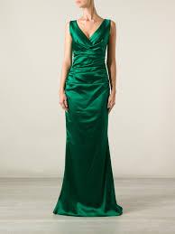 talbot runhof talbot runhof bossa evening dress in green lyst