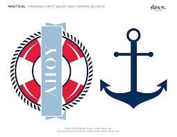 free nautical birthday and baby shower party printables catch my