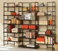 Family Room Cool Bookcases Ideas How To Decorate Floating Shelves Leaning Bookshelf Decorating