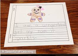 gingerbread man writing paper a spoonful of learning gingerbread man after our hard work on writing our stories it was time for some special fun we decorated a gingerbread man or girl with some special sequins and