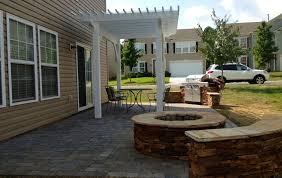 Travertine Patio Stone Pavers Over Concrete Porch