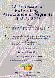 resume writing adelaide sapnam sa professional networking association of migrants 4th sapnam 4th july 2017 6pm to 9 30pm the multicultural communities council of sa 113