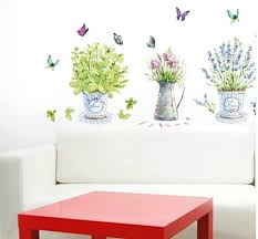 Poster Wallpaper For Bedrooms Large Flower Pots Wall Stickers Decals Fresh Plants Poster