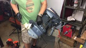 how to remove lower unit 1977 evinrude outboard motor part 1 youtube