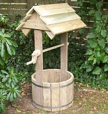 wooden garden wishing well gardening gardens