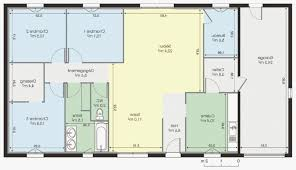plan maison plain pied en l 4 chambres dacoration plan de maison plain pied en autoconstruction 18