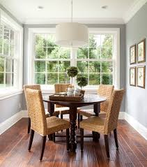 splashy seagrass chairs in dining room contemporary with seagrass