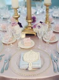 Blue Table Menu Magical Garden Ceremony Tented Reception With Chic French Theme