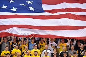 A American Flag Pictures Game 1 Pictures Of The Stanley Cup Final Penguins 3 Sharks 2