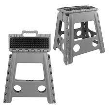 39cm high plastic folding heavy duty step stool with handle