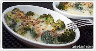 cuisiner les brocolis recette bio gratin de brocolis cuisine saine sans gluten