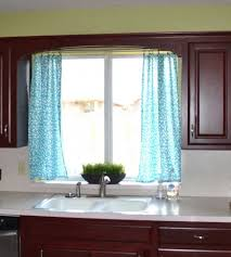 kitchen curtain ideas diy grey metal chrome double bowl kitchen