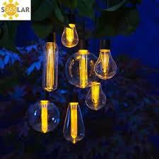 Edison Lights String by 7 X Noma Solar Edison Bulb String Garden Lights 1017024 Hanging