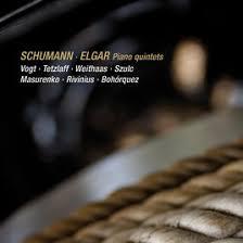 schumann cuisine schumann elgar piano quintets live by lars vogt christian
