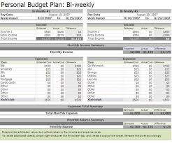 free biweekly budget excel template education pinterest