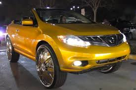 nissan montero convertible nissan murano cross cab on 30 inch spinners the new worst thing ever