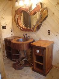 Rustic Bathroom Lighting Ideas Ideas Rustic Bathroom Vanity Plans Within Staggering Bathroom