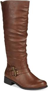 s xoxo boots fashion bug plus size s side zipper fur lined knee high