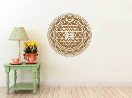 Om Wall Decal Mandala Vinyl by Sri Yantra Mandala Vinyl Wall Decal Seed Sacred Geometry