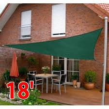 Sail Canopy Awning Outsunny 18 U0027 Triangle Outdoor Patio Sun Shade Sail Canopy Green