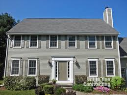 Monterey Taupe Colorplus Hardiplank With Arctic White Trim And