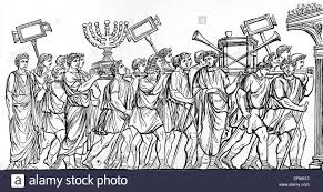 roman soldiers at the destruction of jerusalem carry away the