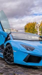 Blue Lamborghini Aventador - download wallpaper 750x1334 lamborghini aventador blue paris