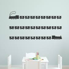 33 train wall decals train on a track wall sticker removable wall train wall decals