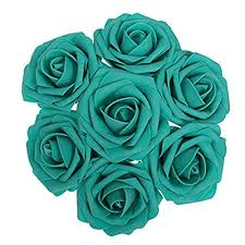 teal flowers jing rise artificial flowers 50pcs real looking roses with