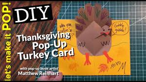 making thanksgiving cards let u0027s make it pop thanksgiving pop up turkey card youtube
