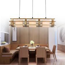Led Dining Room Lights With Led Bulb 3light 1light Wood Pendant L Wood Restaurant