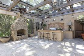 outdoor kitchens tampa fl rustic patio with skylight u0026 outdoor pizza oven in tampa fl