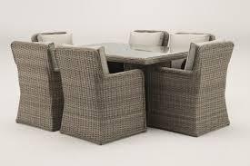 venice 1 5 metre rectangular grey rattan dining table and 6 club