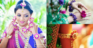 flower jewellery 18 amazing fresh flower jewelry for your bridal mehendi designs