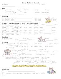 daily report sheet template daily report sheet toddler daycare daily report infants work
