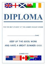 english worksheets diploma for the students at english speaking