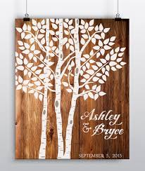 wedding tree wedding tree print wedding guest book alternative aspen birch