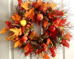autumn decorations front door fall etsy