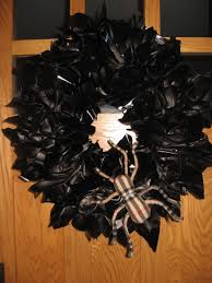 Easy Halloween Wreath by Our Crafty Home Spider Web Halloween Wreath